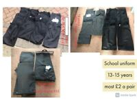 boys school trousers 8-16 years shorts 8 years and 11-12 collection only from didcot