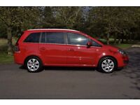 2012 VAUXHALL ZAFIRA DESIGN NAV RED 7 SEATER LOW MILEAGE FAMILY CAR