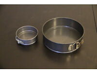 3 piece Non-Stick Springform cake tin set 12/22/27 cm, with quick release clasp and loose bottom