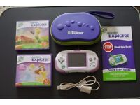 Leapster Explorer In Purple with 2 Games, Case And Original Instructions - Great Condition