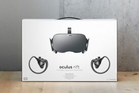 Oculus Rift with 2 Sensors and Touch Controllers boxed as new 2 months old