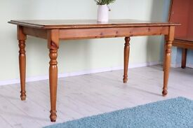 PINE FARMHOUSE KITCHEN TABLE STURDY LEGS DETACH - CAN DELIVER