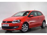 VOLKSWAGEN POLO 1.2 MATCH EDITION 3d 59 BHP (red) 2014