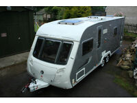 Swift Conqueror 640 4 Berth, Twin Axle Caravan. Large End Bathroom, Alde Water Heating.