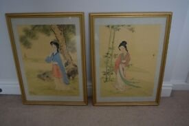 2 Japanese Watercolour Pictures
