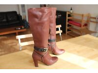 Rockport leather boots, size 4
