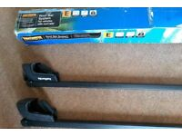 2 Halfords Car Roof Bars, 'E' Fitting. Hardly Used. Excellent Condition. £40