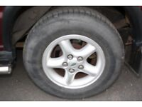 landrover discovery t d 5 wheels and tyres size 255 65 16 about 6 7 mill of tread