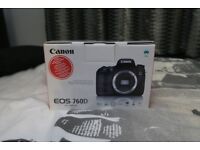 Canon EOS 760D - Black (Body Only)