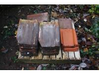 Reclaimed Vintage Clay Pantiles - mostly Celtic - including 7 rare LH edge tiles