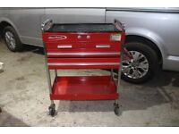 snap on (blue point) red tool cart