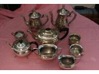 Lot of Vintage EPNS Tea Pots Coffee Pots Sugar Bowls Silver Plated