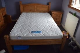 Excellent condition double bed in mexican pine