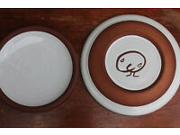 2 Plates by Famous Irish Ceramicist Stephen Pearce. Dinner Plate & Side Plate Irish Art Pottery