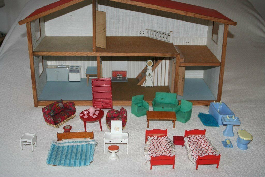 Vintage 1970 S Lundby Gothenburg Kids Dolls House And Furniture In