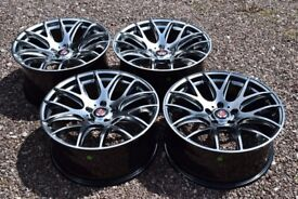 "Set of Four Axe CS Lite 19"" Alloy Wheels Staggered Hyper Black BMW 3 Series E90 F30 M Sport"