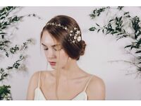 DEBBIE CARLISLE WEDDING HAIR VINE COMB ASTER (£225 RRP)