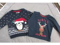 Christmas jumper and long sleeve t-shirt