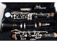 Yamaha YCL-650 Bb Professional Solid Grenadilla Wooden clarinet, flight case MRP £1100
