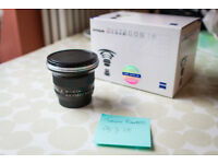 Carl Zeiss 18mm f3.5 Distagon EF - Super Prime Canon Fit Lens
