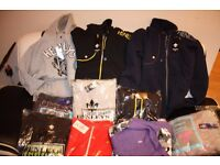 HENLEYS designer mens hoodies. jumpers. jackets. 2 for £15 various sizes and colours