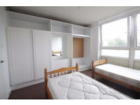 OPPORTUNITY TO RENT A VERY BRIGH TWIN ROOM , WITH A LOT OF STORAGE AND NEXT TO TUBE