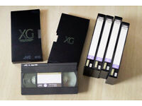 6 JVC XG Super-VHS Master E-180 S-VHS Tapes for sale