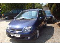 Renault Megane Scenic 2003-03-plate, 1876cc diesel, 149,000 miles, new MOT