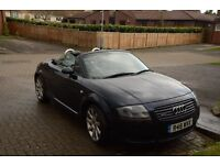 Audi TT convertible 225 bhp private plate year late 2002 very good condition BLUE 12 mths M.O.T