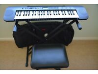 CASIO CTK-240 Keyboard with stand, adjustable stool and keyboard cover for sale