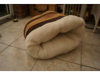 Cat bed/igloo fleecy inside and suede effect outside. Never used.