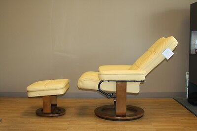 NEW Comfort Chair 804-25-103 Sun Yellow Bonded Leather Chair Recliner Mac Motion