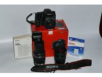 Sony A58 Mint with 3 lenses Boxed