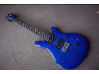 PRS Custom 24 7 String Electric Guitar in Royal Blue - Great condition (Gibson, Ibanez, fender)