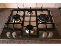 Hotpoint stainless steel gas hob