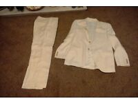 Mens ivory two piece suit