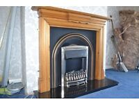 Fire place Inset Mantle piece and Hearth