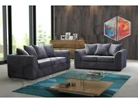 "BYRON 3 SEATER & 2 SEATER SOFAS """" BROWN/BEIGE & BLACK/GREY AVAILABLE IN CORNER AS WELL"