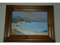 Original oil painting from Biaritz in France