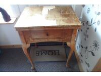 sewing machine table for shabby chic project