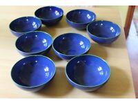 Blue Imperial Denby Cereal/Soup bowls