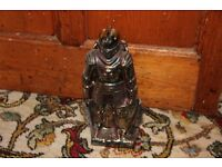Vintage knight fireplace companion set