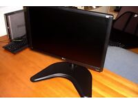 LG 22 inch Monitor with heavy duty stand