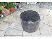 LARGE SMITHY BLACK PATIO TUB 50cm X 39cm.