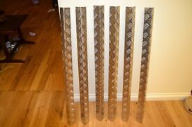 set of 6 aluminum angle for protecting corners of walls ect