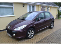 PEUGEOT 307 SE AUTOMATIC, 35,000 MILES, MAROON, LOVELY CONDITION.