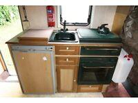 Caravan or motorhome oven.