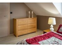 Chest of Drawers Solid Oak Ash Beech Lacquered Wood Bedroom Furniture Storage