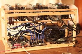 Mining Rig GPU RX470 x6, ETH 177MH/s + ETC & ZCASH