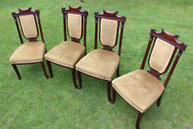 Set of 4 Antique Victorian/Edwardian Dining Chairs